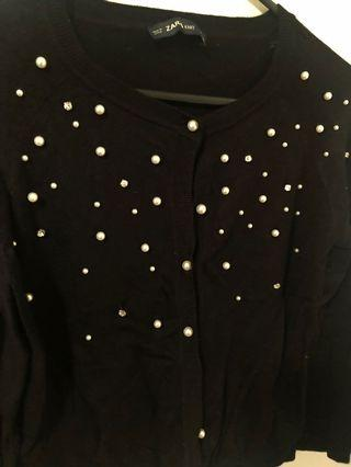 Pretty Zara Sweater with Pearls & Bling Studs