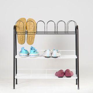 烤漆小雙層鞋架 寬59x深27x高60.5公分
