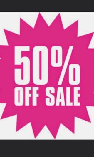 50% OFF Store wide