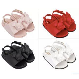 preorder: mini melissa children girl mickey/minnie mouse jelly sandals