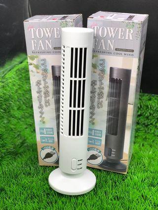USB Tower Fan [White] (Toreba)