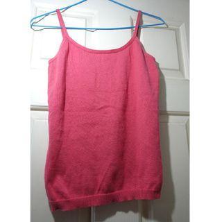 Bossini 粉紅色貼身吊帶背心
