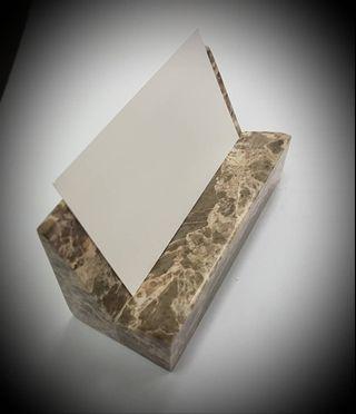 Premium Marble Name Card Holder