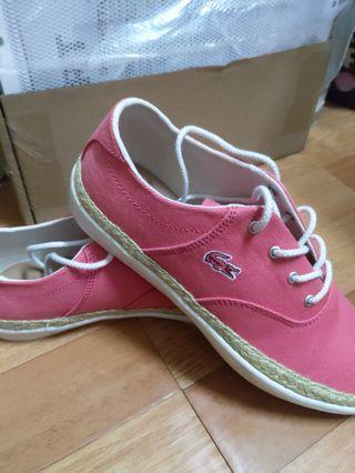 🚚 La coste粉紅帆布鞋(女)
