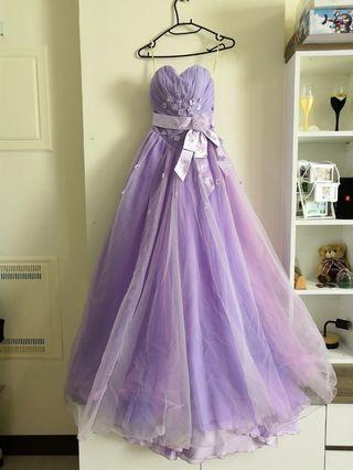 🚚 紫色夢幻二手婚紗