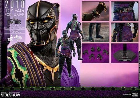 全新啡盒未開 2018動漫節會場限定 Hottoys (MMS487) Black Panther T'Chaka  黑豹老豆