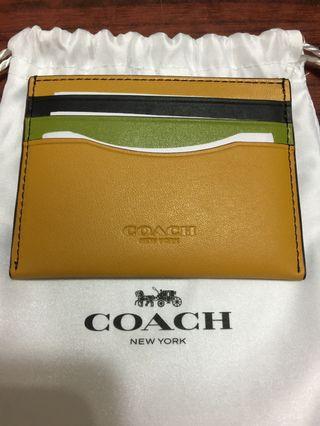 Coach Card Holder 真皮卡包