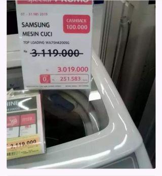Samsung mesin cuci cashback 100rb