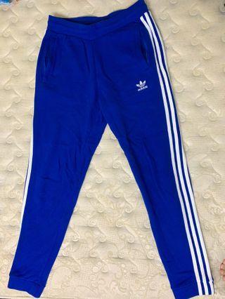 🚚 Adidas 寶藍色 三線棉褲