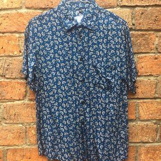 Grettwolker Navy Printed Shirt