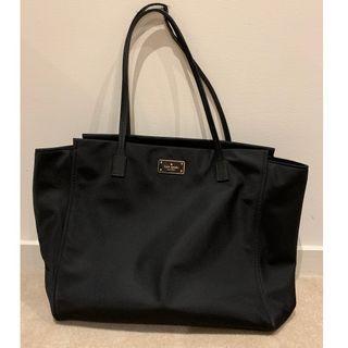 Kate Spade Black Nylon Tote Bag