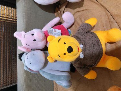 🚚 小熊維尼 小豬 屹耳 娃娃玩偶