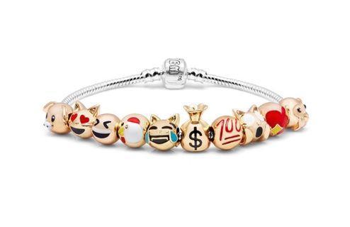 Emojems 3D Charm Bracelet (Emoji / Pandora)