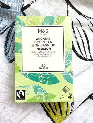 M&S organic green tea 20 teabags 馬莎 綠茶包 20包