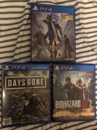 PS4 biohazard devil may cry 5(code未用)