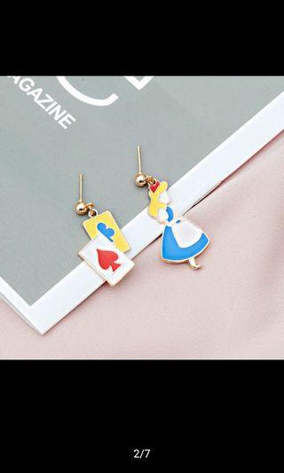 🚚 愛麗絲不對襯耳環