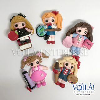 Clay Charm Doll - Back to School Series