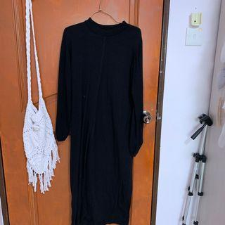 🚚 Black maxi dress (for spring-winter-autumn)