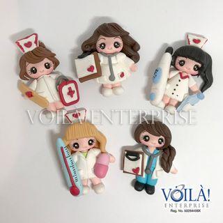 Clay Charm Doll - Medical Team Series