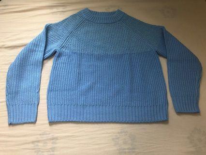 GU blue sweater (m-size)