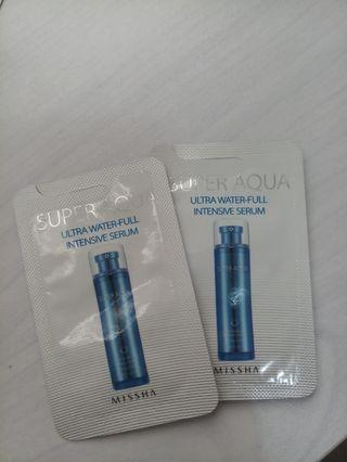 Missha ultra water-full intensive serum 2包