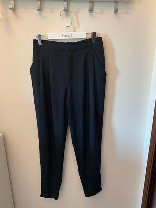 Uniqlo ladies women navy trousers 深藍色返工紮腳長褲