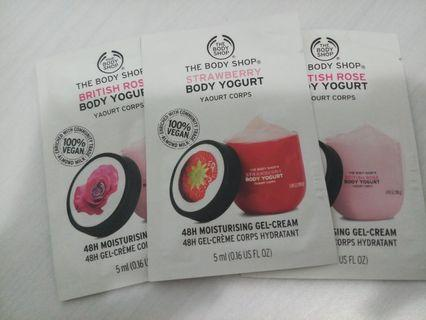 The body shop 48h moisturising gel-cream sample 3包