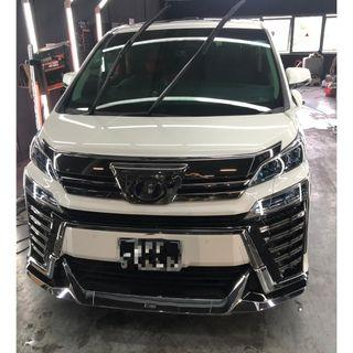 Toyota Vellfire protected by Tacsystem Sparkle Plus Quartz Coating