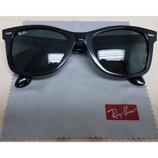 Ray-Ban Wayfarer Sunglasses RB2140-F 901 52mm Black Frame Genuine