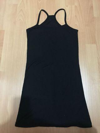 Black long singlet
