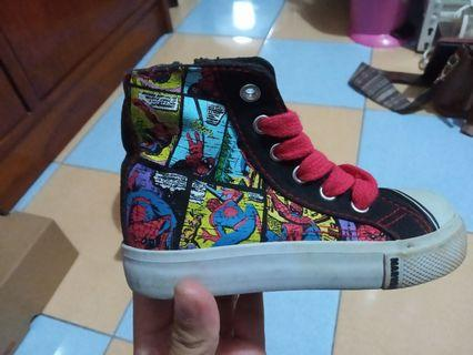 Sepatu keds high top Spiderman (Marvel Comics)