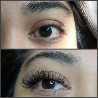 Eyelash extension russian volume