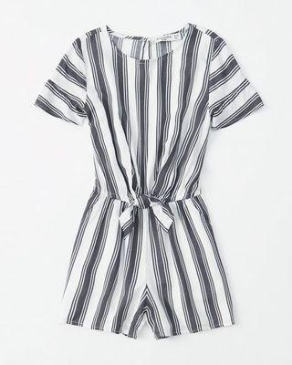 【abercrombie kids】Abercrombie&Fitch(A&F)l條紋連身褲