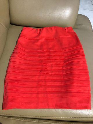 Peach Bodycon Skirt