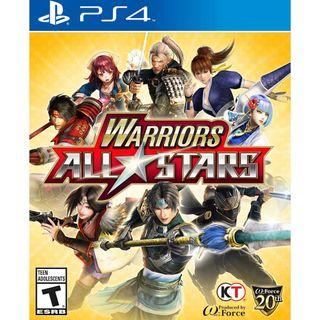 Warrior all stars PS4 games