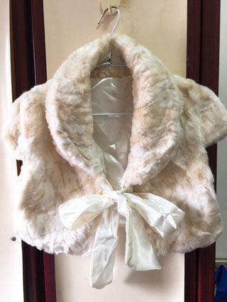 秋冬短版毛絨披肩