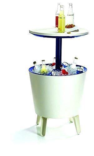 Ice cooler table with build-in- ice bucket