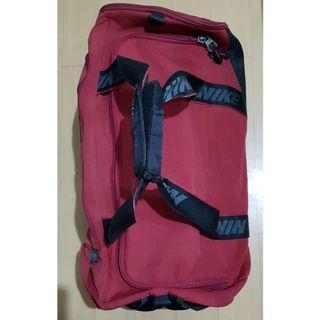 Nike red duffel bag
