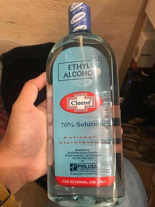 Ethyl Alcohol (Rubbing Alcohol)