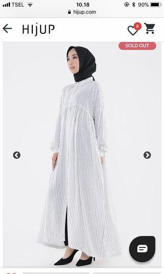 KIMI shireen long shirt stripe by HijUp