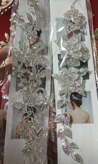 新娘頭飾(贈紙玫瑰花瓣和台酒面膜2片)