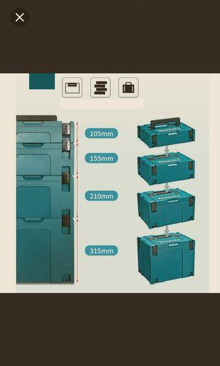 brand new makita system stackable toolbox workstation organiser