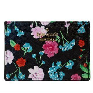 🚚 Kate spade cameron street jardin card holder black floral
