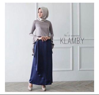 Victorian Skirt Navy by Wearing Klamby #belanjabulanan