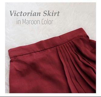 Victorian Skirt Maroon by Wearing Klamby #belanjabulanan