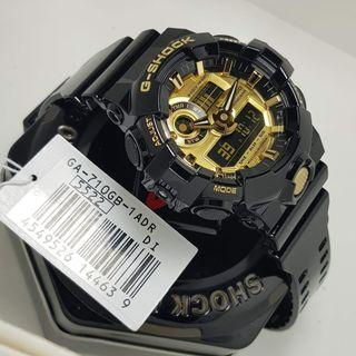 🔥100% Authentic Casio Gshock GA710 Black Gold with FREE DELIVERY 📦 G-Shock