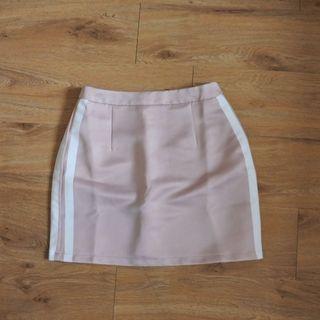 Pink pastel mini skirt/ rok pendek
