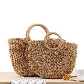 Woven Straw Hand Bag