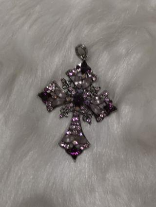 Purple Cross pendant