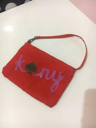 Kate spade red pouch 100k